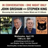 Stephen King y John Grisham juntos en un evento virtual